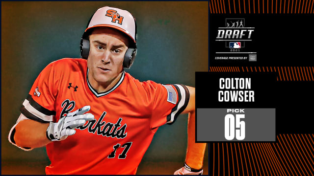 O's pick outfielder Cowser No. 5 overall