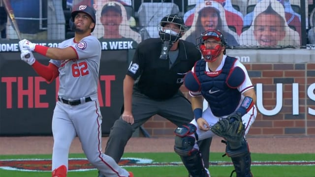 Nats prospect 1st player born in 2000s to HR