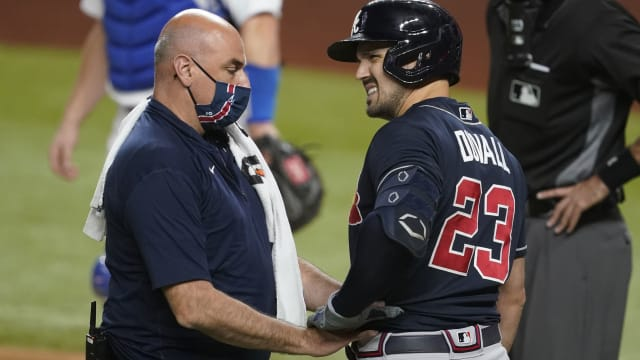 Braves brace for bad news on Duvall's injury