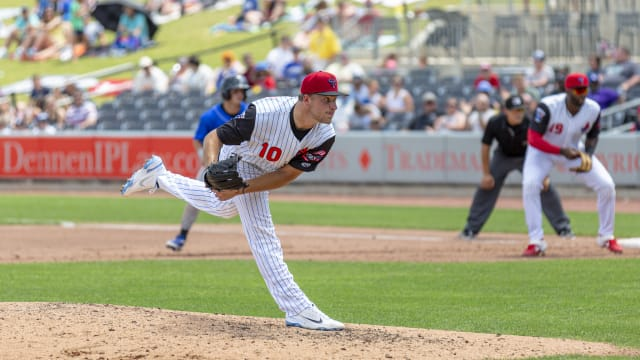 Detmers K's 14, tosses immaculate inning