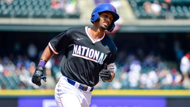 Beaning in rear view for Futures Game MVP