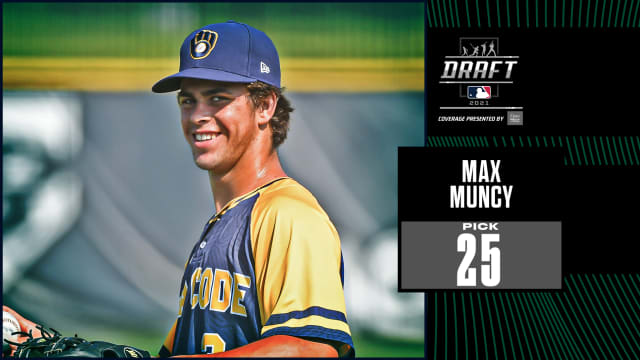 A's select prep SS Max Muncy 25th overall
