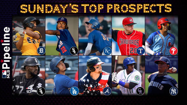 Sunday's top prospect performers
