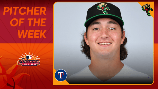 White nabs AFL Pitcher of the Week honors