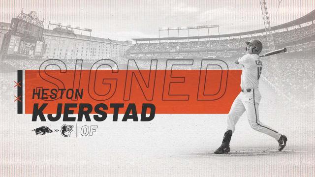 Orioles sign No. 2 overall pick Kjerstad