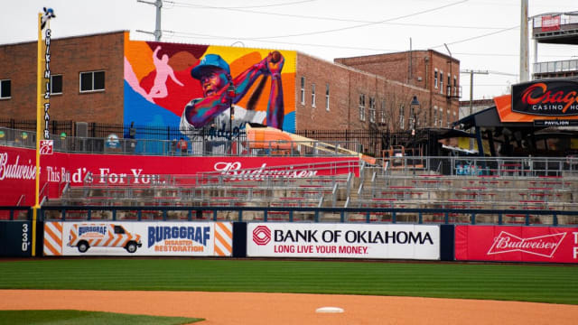 New Jackie mural overlooks Tulsa ballpark