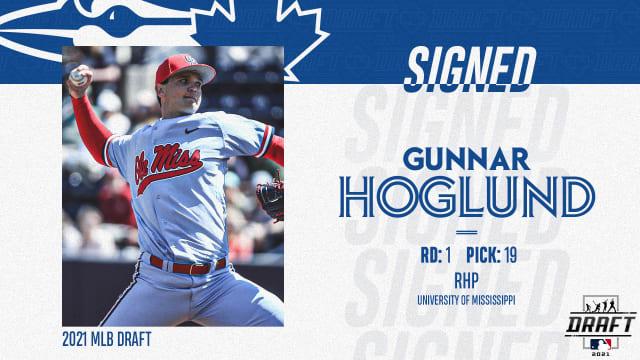 Blue Jays sign 1st-rounder Gunnar Hoglund