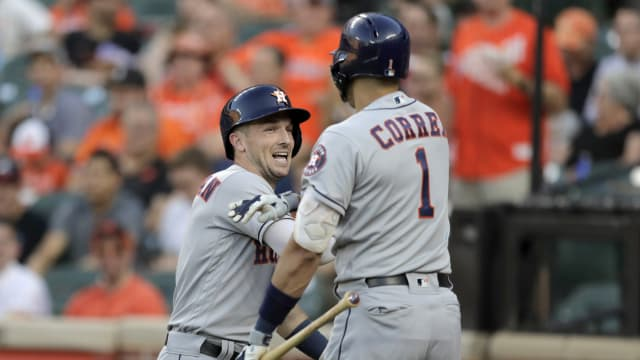 Longest Home Runs 2020.Carlos Correa Longest Home Run At Camden Mlb Com