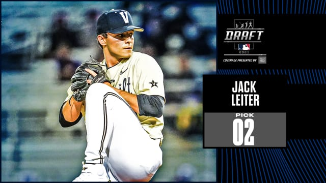Rangers take Vandy RHP Leiter No. 2 overall