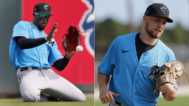 Marlins option prospects Harrison, Neidert