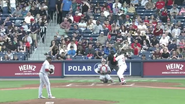 All aboard: 435-foot HR hits moving train