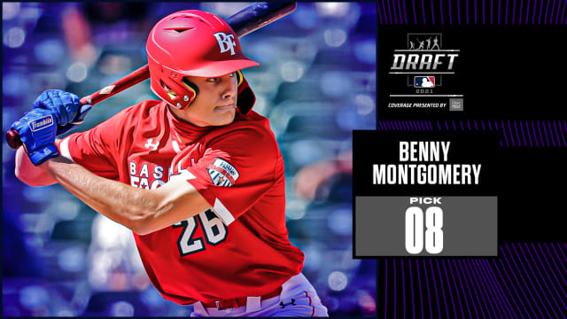 Rockies take OF Montgomery with No. 8 pick