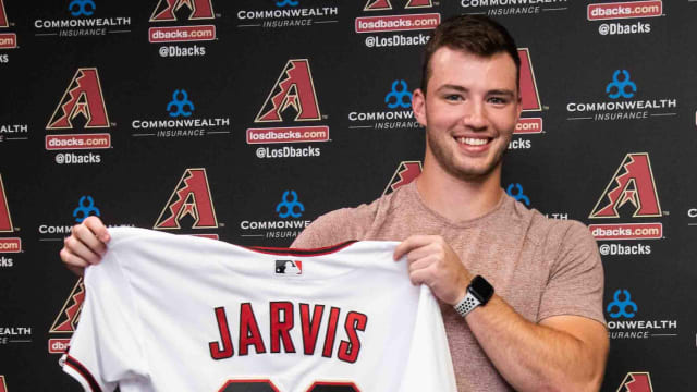 Now signed, Jarvis enjoying D-backs camp