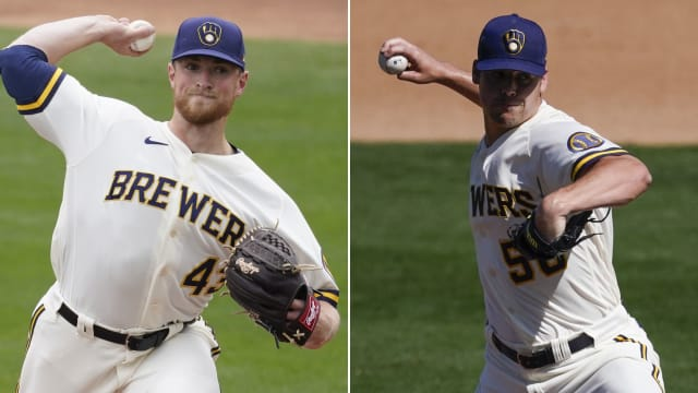 Brewers' duo rises from second TJ surgery