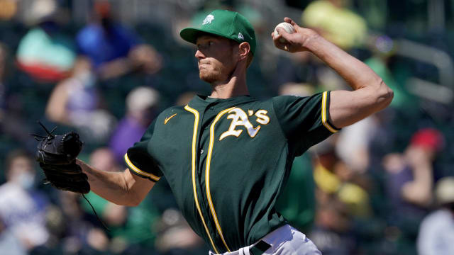 A's call up No. 2 prospect Puk; Pinder to IL