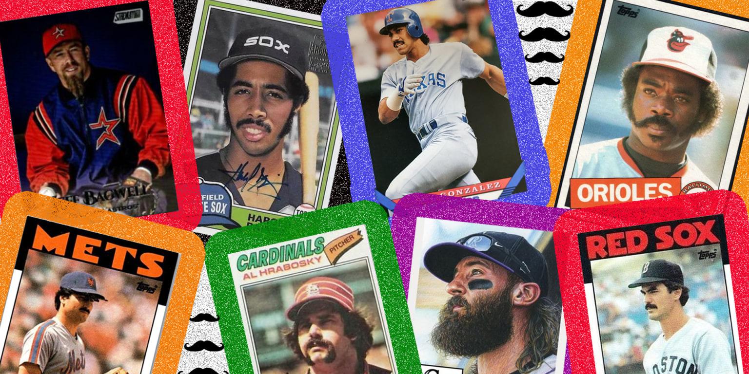 Best facial hair baseball card for each team