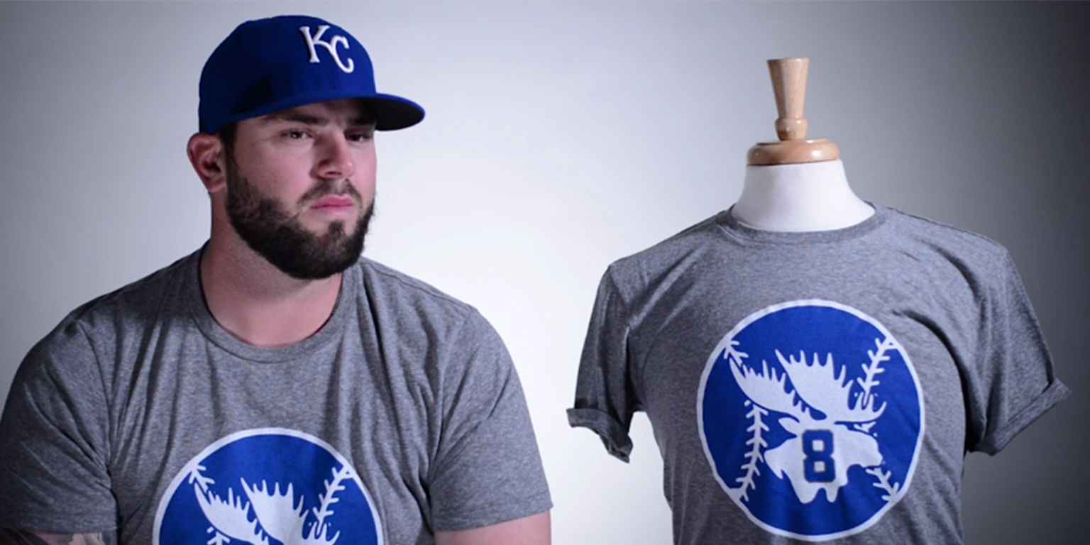 new style c93bd 07e4c Mike Moustakas T-shirts benefit ACE 30 Fund   MLB.com