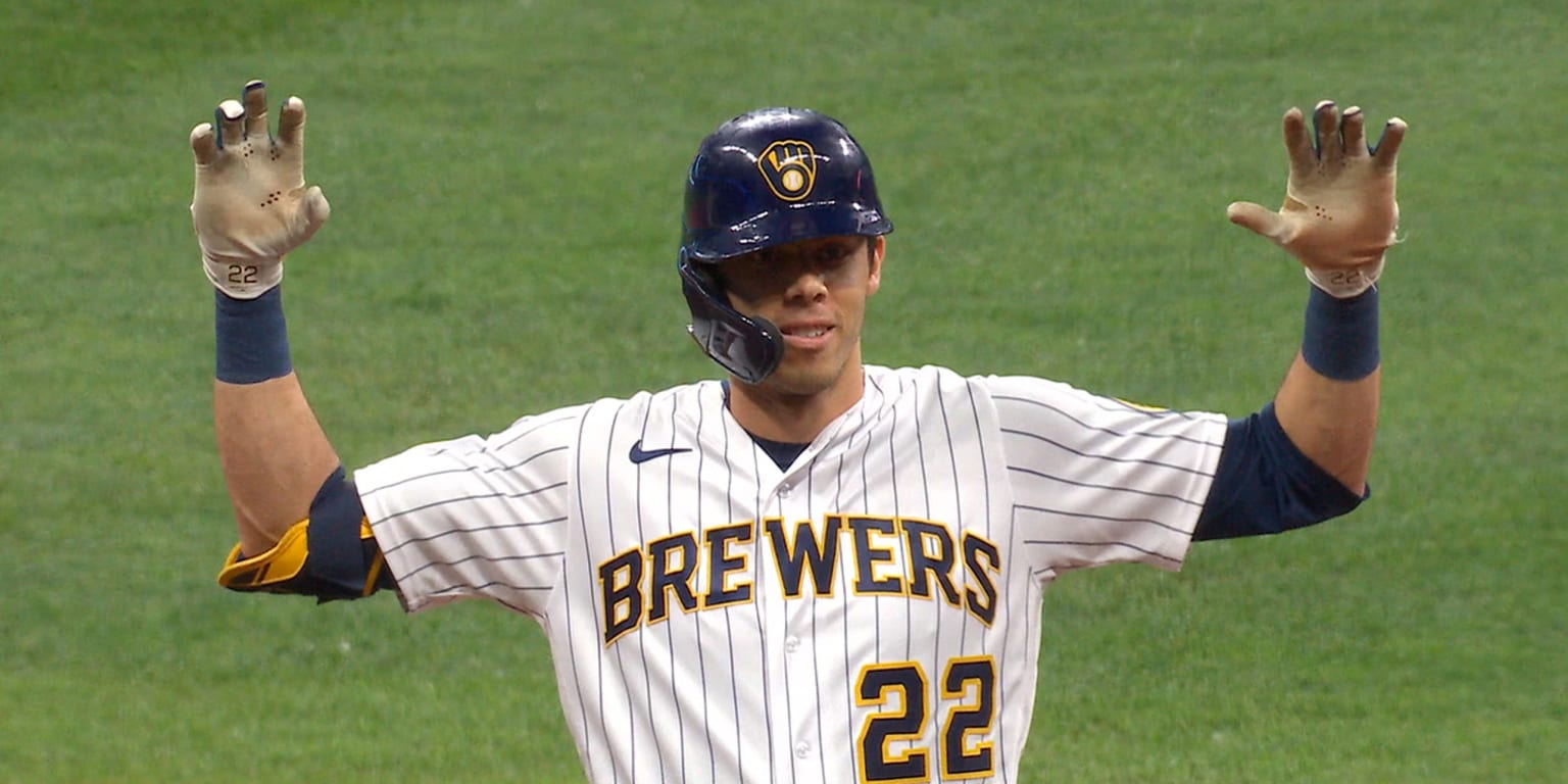 Yelich's double highlights Crew win