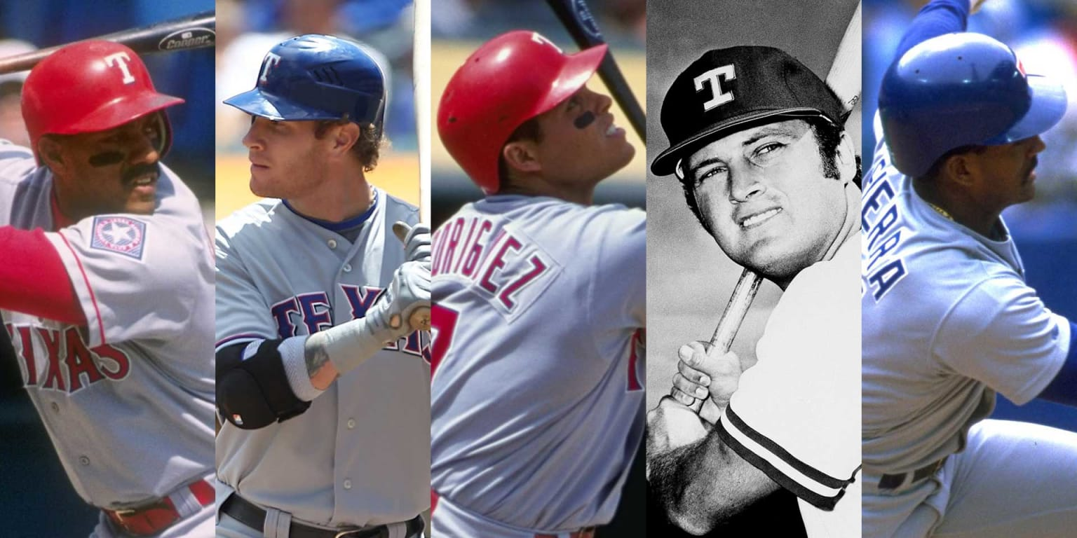 The top 5 seasons from Rangers hitters