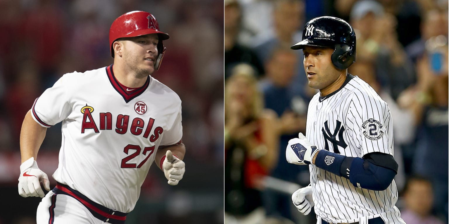 Mike Trout ties Derek Jeter in Wins Above Replacement