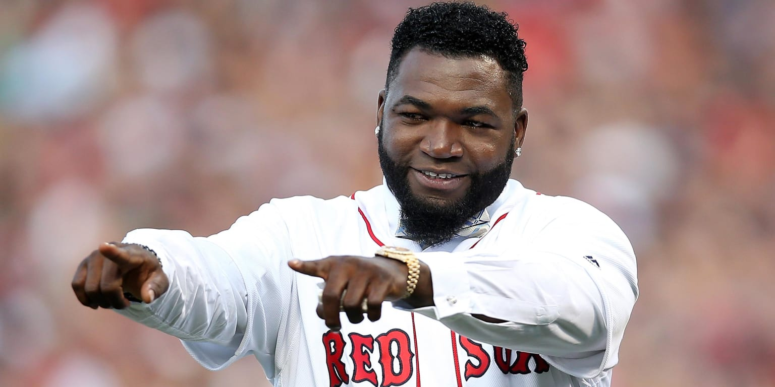 Papi back at Fenway for ceremonial first pitch