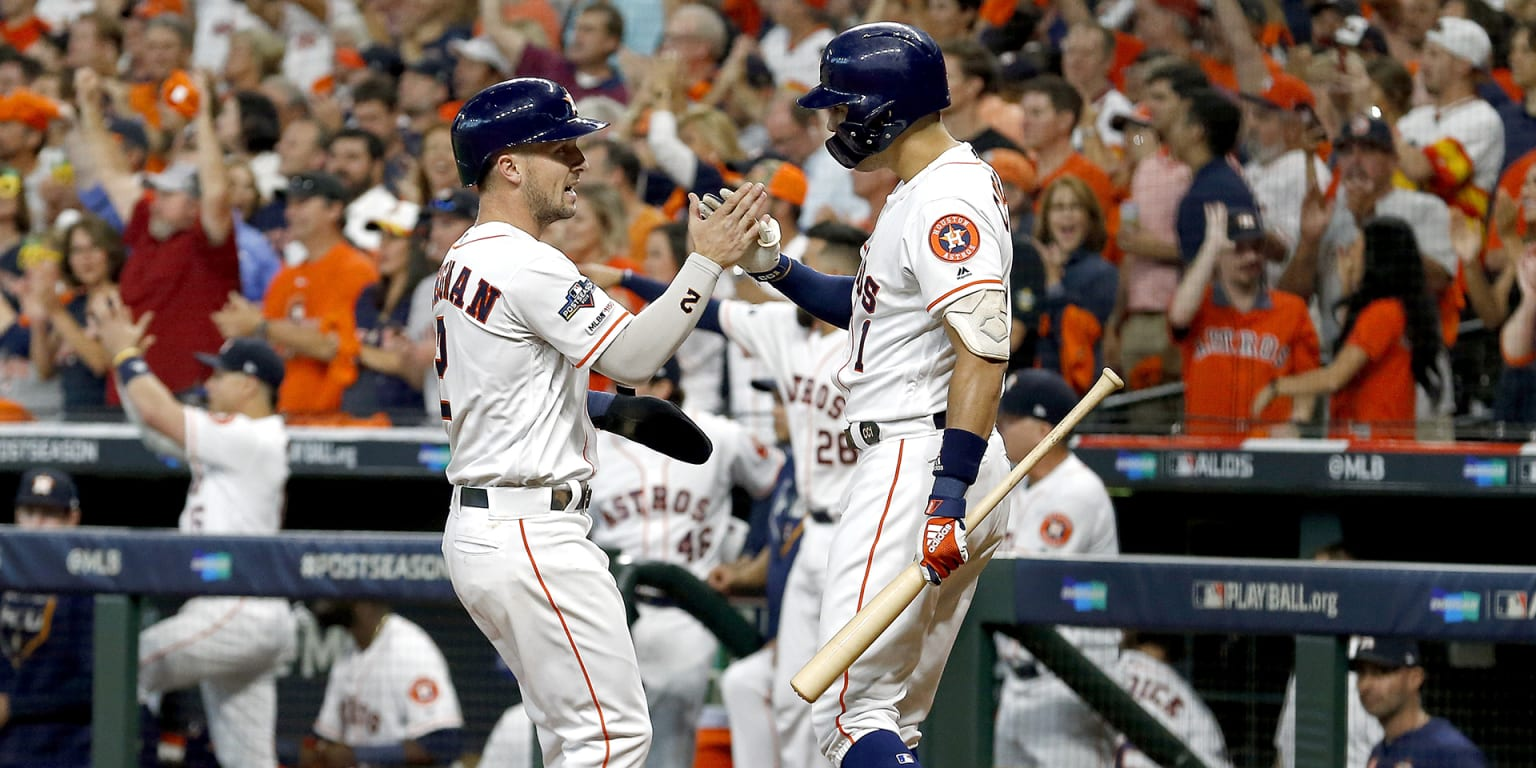 Tipped off? Nope, Astros just 'pass baton' in 1st