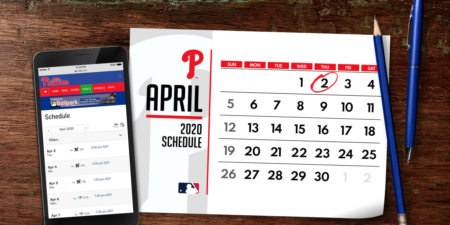 Phillies Home Opener 2020.Phillies 2020 Schedule Released Mlb Com