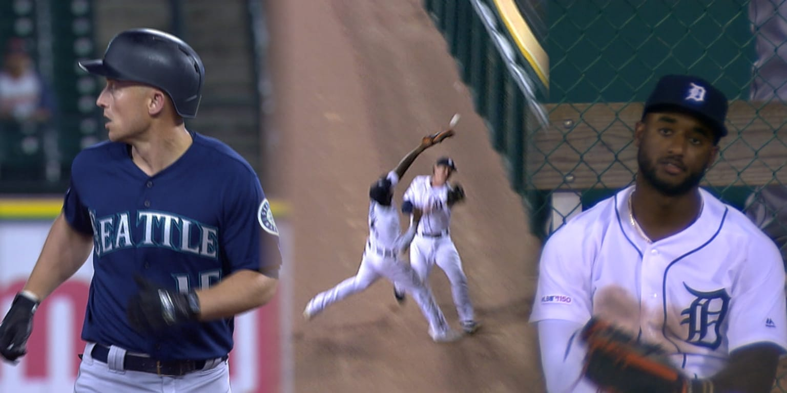Outfield collision results in Seager's 3rd HR