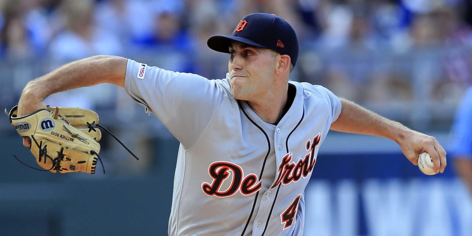 Boyd's 10 K's make Tigers history in loss to KC