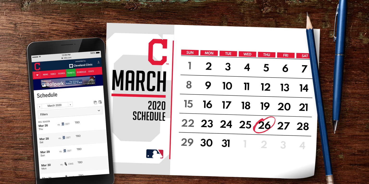 photo about Indians Schedule Printable named Indians 2020 plan unveiled Cleveland Indians