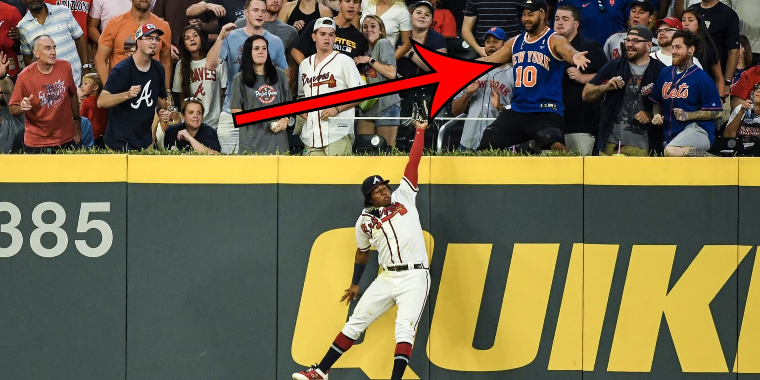 Ronald Acuna Jr. robbed a homer from a Knicks fan