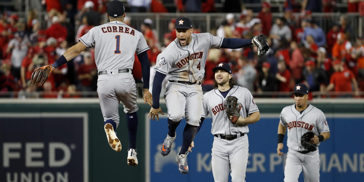 Astros take all 3 in DC, just 1 win away from title