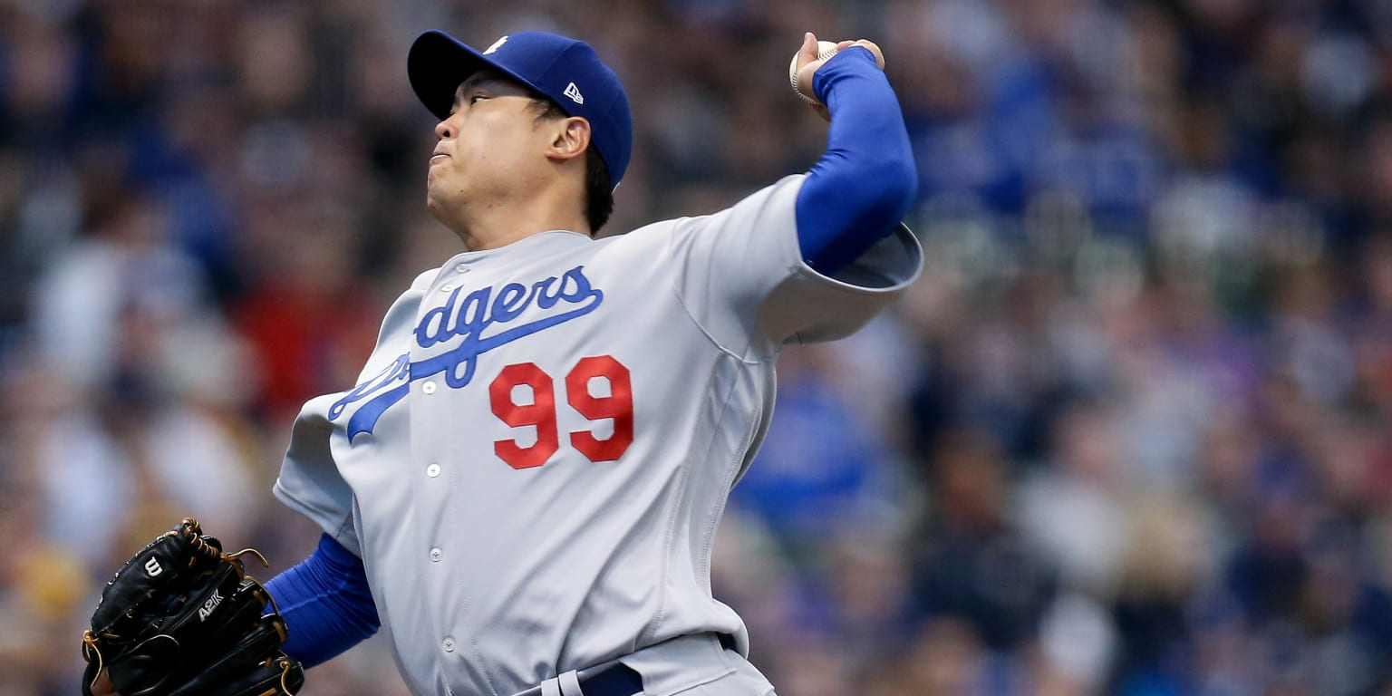 dodgers unable  solve christian yelich los angeles dodgers
