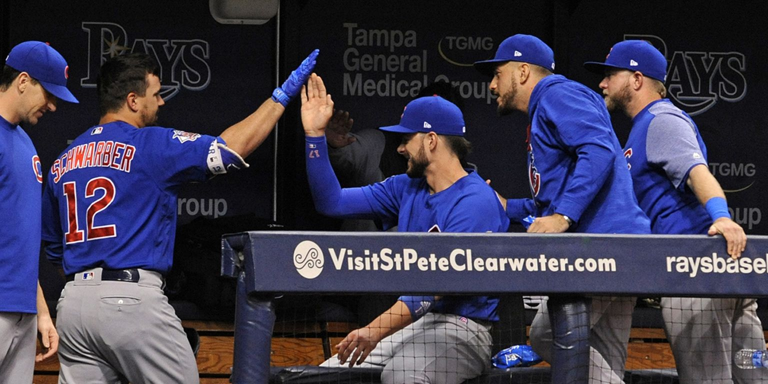Cubs win 7th straight in Maddon's Trop return