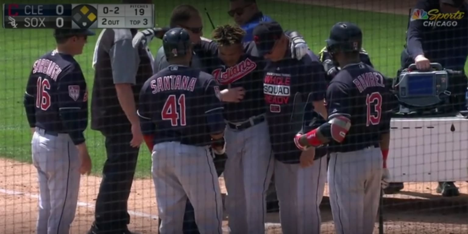Jose Ramirez injured, carted off field