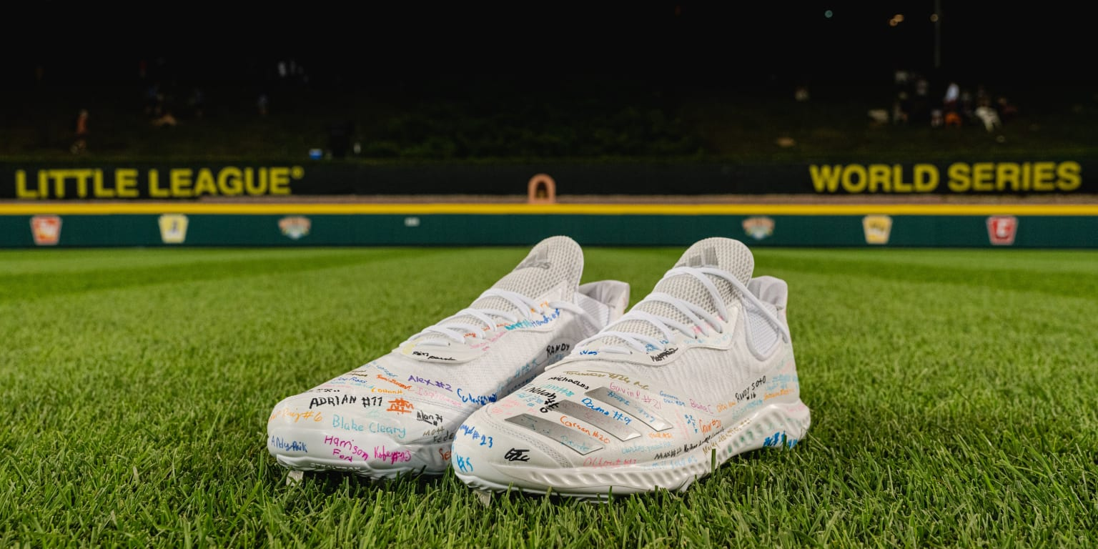 Judge's cleats signed by all 217 LLWS players