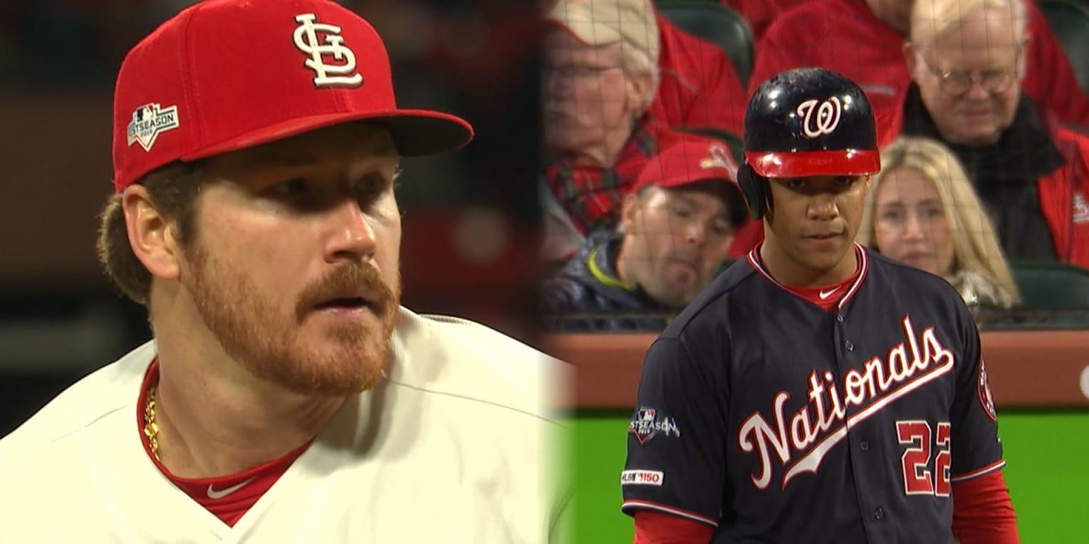 Miles Mikolas battles Juan Soto in Game 1 – MLB.com