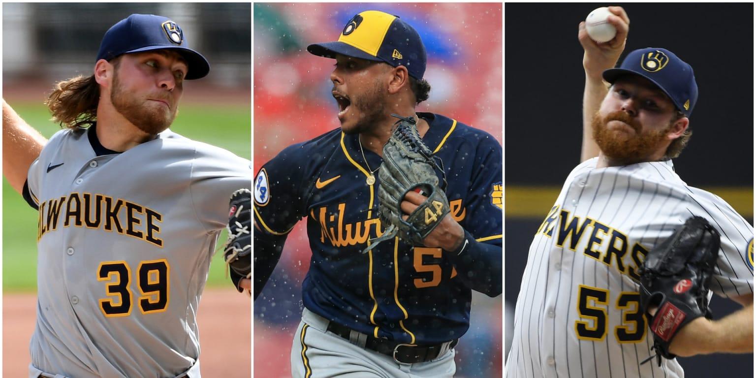 Corbin Burnes, Freddy Peralta, Brandon Woodruff dominant for Brewers