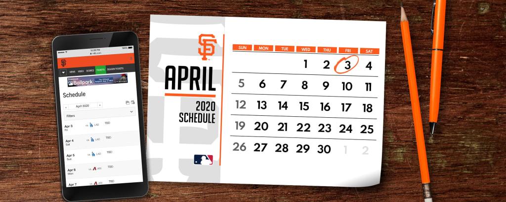 Giants Schedule 2020.Official San Francisco Giants Website Mlb Com