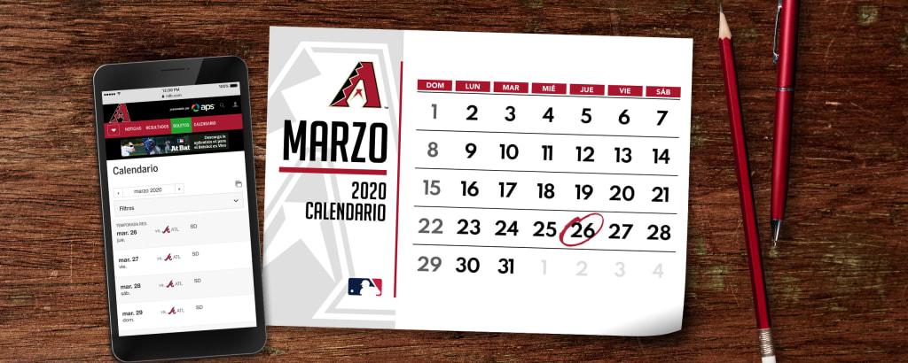 Calendario D.Los Diamondbacks De Arizona Lasmayores Com