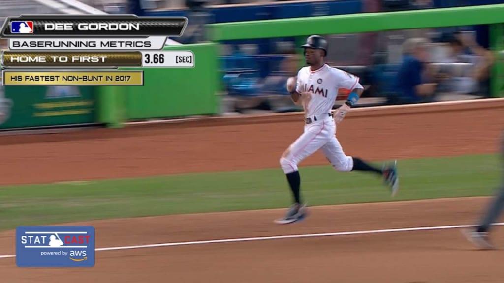 Dee Gordon is MLB's fastest man by one measure   MLB com