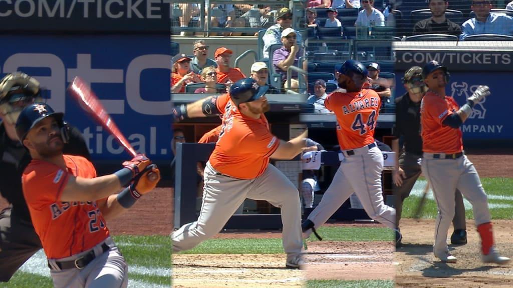 Astros sacan 4 HRs en el Bronx