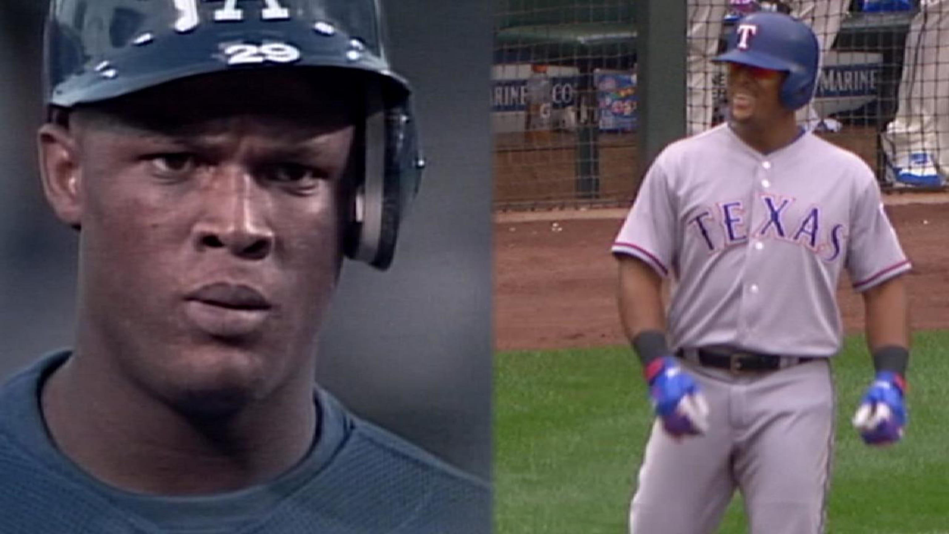Beltre's first and last hits
