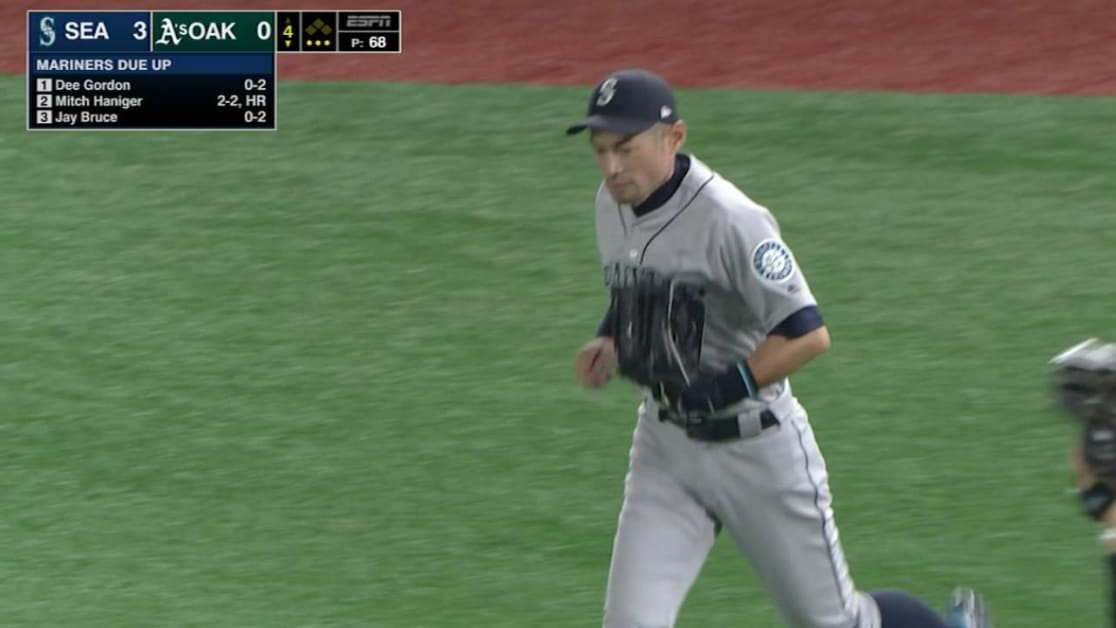 Ichiro's running grab in RF