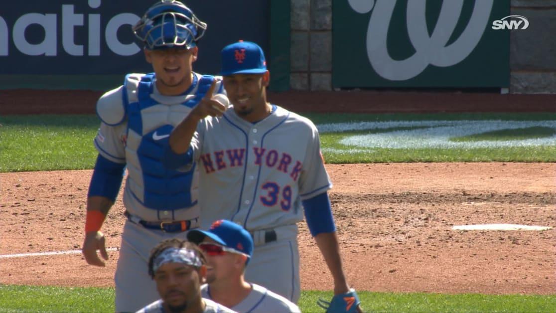 Díaz primer salvado con Mets