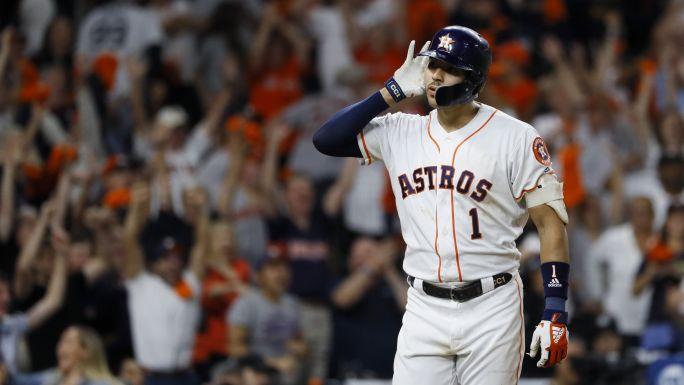 Astros empatan SCLA con HR de Correa en la 11ma
