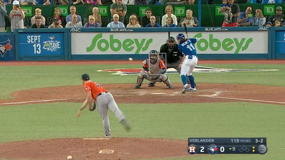 Astros pitcher, former ODU Monarch Justin Verlander throws
