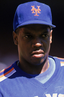 Photo of Darryl Strawberry  & his friend Dwight Gooden